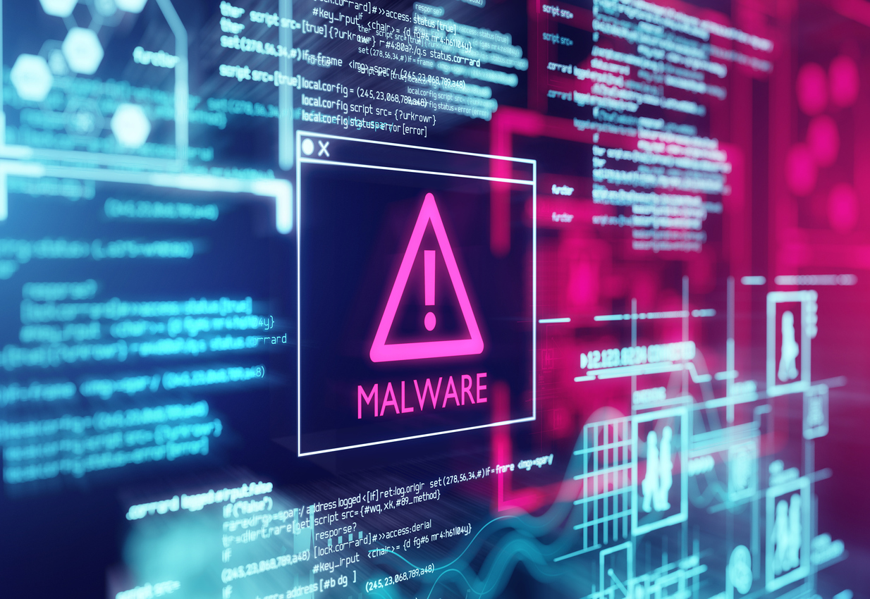 Cyber Attacks malware screen